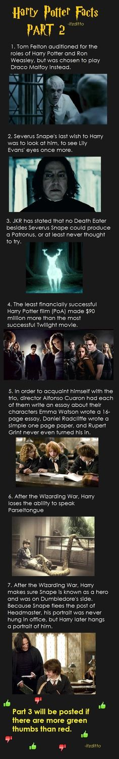 Harry Potter fun facts part 2.