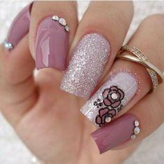 Flora, Nail Designs, Nail Polish, Nail Art, Long Hair Styles, My Style, Nails, Crochet, Beauty