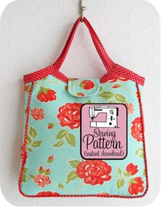 Lovely size and shape for this Granny Tote Sewing Pattern by Michele Patterns #sewing