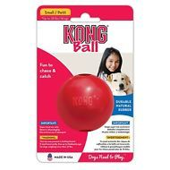 Kong Ball With Hole Dog Toy Red Durable Chew Sessions And Games Of