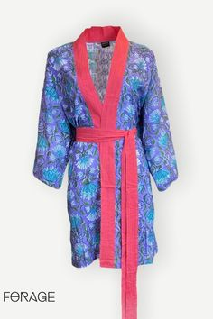 This beautiful bohemian robe had been block printed by hand on to 100% cotton. . Hand made by our skilled tailor in Jaipur, this beautiful luxury robe is vibrantly coloured and soft against the skin. . Perfect to complete your festival look, your boho outfit or simply to enjoy lazy mornings in your stunning hand made dressing gown We are in LOVE! Browse our full collection and tell us what you think Festival Looks, Festival Style, Festival Fashion, Boho Clothing, Yoga Wear, Boho Outfits, Jaipur, Bright Pink, Mornings