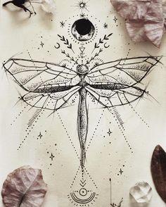 Dragonfly tattoo design for a friend ♥︎ Mais