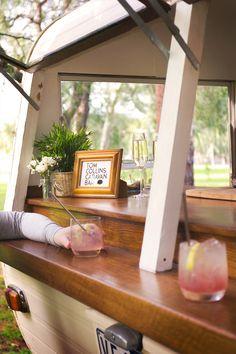 Have you met Tom Collins? A handsome vintage caravan bar serving delicious beverages. Tom Collins, Concession Trailer, Food Trailer, Vintage Caravans, Vintage Trailers, Vintage Campers, Coffee Van, Coffee Shop, Vintage Industrial Bedroom