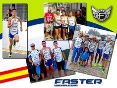 """Miembros del """"Club Atletismo CHIPIONA"""" (Cádiz), obteniendo trofeos con sus nuevas prendas personalizadas FasterWear.com"""