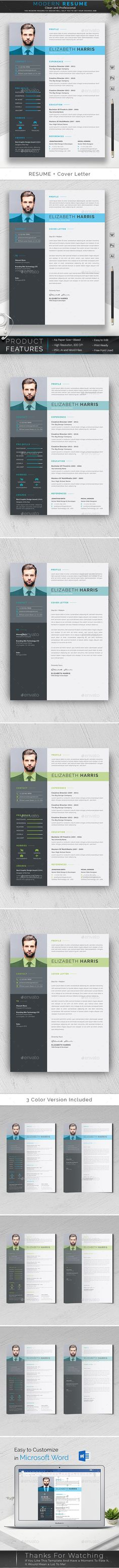 Resume Professional, Modern, Clean and Minimal Resume / CV Template. Elegant page designs are easy to use and customize, so you can quickly tailor-make your resume for any opportunity and it will help you to get your desired job. Letterhead Template, Best Resume Template, Cv Template, Mockup Templates, Graphic Design Brochure, Change Image, Resume Cv, Professional Resume, Page Design