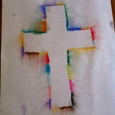 Easter Pastels cross art project