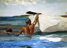 The Sponge Diver - Winslow Homer - 1889  How did he do these without a camera to capture the image?  Amazing