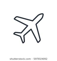plane line icon on white background plane line icon on white background Airplane Doodle, Airplane Outline, Airplane Icon, Tattoo Outline, Outline Drawings, Simple Airplane Drawing, Image Avion, Plane Silhouette, Tattoo Care Instructions