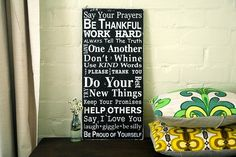 family rules - I love this!!