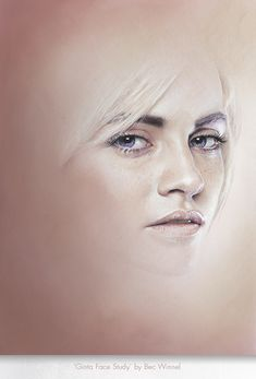 'GINTA FACE STUDY' by Bec Winnel
