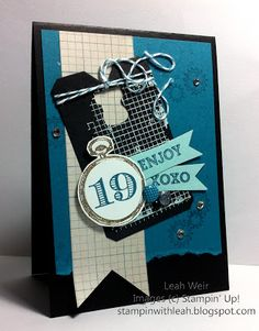 Stampin' With Leah: 19th Birthday Card.
