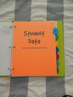 binder organization, teacher notebook, teacher binder, student data, teacher organization
