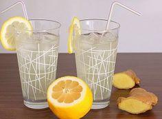 Recept Zázvorová limonáda s citronem Summer Drinks, Pint Glass, Smoothie, Household, Food And Drink, Cooking Recipes, Tableware, Ginger Lemonade, Health