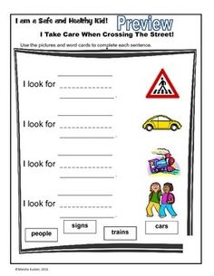 Worksheet Pedestrian Safety Worksheets give five safety rules and on pinterest pedestrian crossing the street