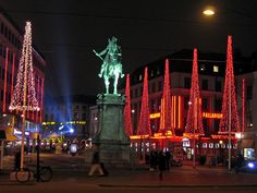 Kungsportsplatsen Gothenburg Sweden by Niels displayed, via Flickr. Goteborg by night at Christmas time. Lovely working city!