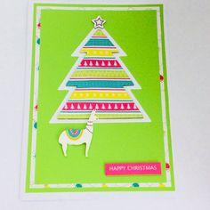 Lama Handmade Christmas Card, Blank Card, Christmas Tree Card    eBay Luxury Christmas Cards, Christmas Tree Cards, Handmade Christmas, Blank Cards, Stationery, Diy, Stationeries, Do It Yourself, Papercraft