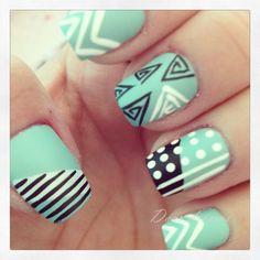 Abnormal nail art. Cute.