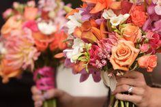 Colorful Bridesmaids Bouquets
