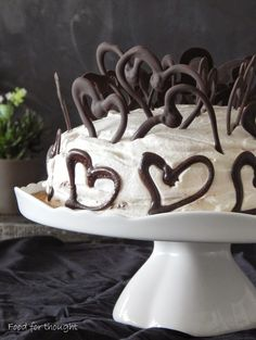 Food for thought: Black forest με σοκολάτα Greek Recipes, New Recipes, Christmas Cooking, Black Forest, Food For Thought, Chocolate, Cake, Party, Desserts
