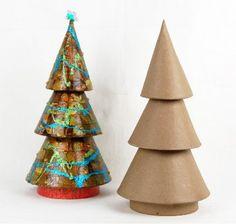 telephone book folded by me into a Christmas tree shape | Book ...