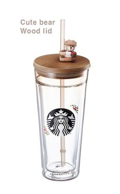 "Starbucks KOREA 2018 Autumn figure glass coldcup 591ml ""Cute bear  (eBay Link) Starbucks Tumbler Cup, Copo Starbucks, Starbucks Bottles, Starbucks Drinks, Starbucks Coffee, Cute Water Bottles, Best Water Bottle, Starbucks Merchandise, Cute Cups"