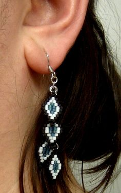 Beaded Dangle Earrings Native American by SimplyBeadifulDesign
