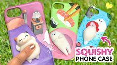 DIY VIRAL SQUISHY PHONE CASES!!! DIY Kawaii Phone Case Crafts & Hacks - YouTube