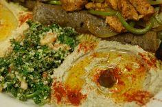 Yummy's Greek restaurant in Denton- delicious hummus!