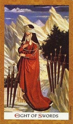 Image result for 8 of swords tarot mary el