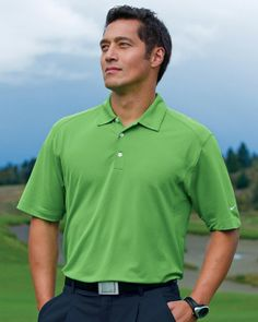 c41239890 Nike Golf 378453 Dri-FIT Mini Texture Polo Golf Clothing, Mens Clothing  Styles,