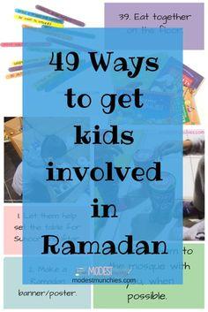 49 Ways to get kids involved in Ramadan blog