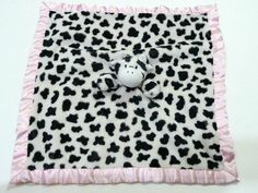 BabyMio Baby Mio Mooky the Cow Tag-a-Long Lovey Blanket Pink Trim Lovey a7c6caa86