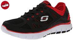 Skechers Skech Flex - Life Force, Herren Sneakers, Schwarz (black/red Bkrd), 45 EU - Skechers schuhe (*Partner-Link)