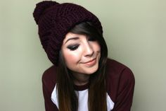 Zoella | Beauty, Fashion & Lifestyle Blog: Bobble Hat & Smokey Eyes