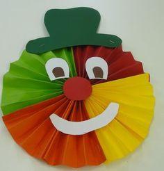 Farsang :: Óvoda Clown Crafts, Carnival Crafts, Ladybug Crafts, Fall Crafts, Diy And Crafts, Crafts For Kids, Paper Crafts, Drawing For Kids, Art For Kids