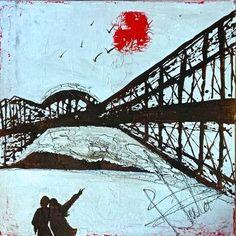 une des 7 merveilles du monde Pont de Québec by bluto à la andy warhol pop art Andy Warhol Pop Art, Sand Art, Sydney Harbour Bridge, Quebec, Fine Art Paper, Saatchi Art, Painting, Art Prints, Canvas