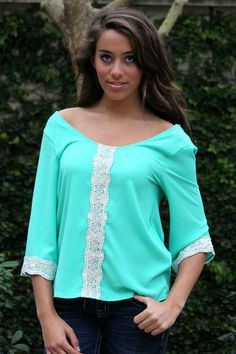 This top has the perfect amount of sexy mixed with preppy!