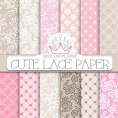 "Lace Digital Paper: "" Cute Lace Digital Paper"" with lace background, lace texture, pink lace, beige lace, vintage lace pattern, brown lace https://www.etsy.com/listing/191862178/lace-digital-paper-cute-lace-digital?ref=shop_home_active_1"
