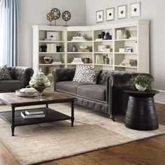 Home Decorators Collection Louis Philippe Modular 5-Shelf Polar Right Bookcase in White-9716200410 - The Home Depot