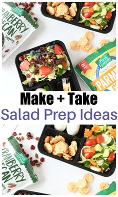 #AD Salad prep is a great way to have healthy meals ready-to-go when you need them. Say goodbye to the drive through or gas station food and hello to flavor and nutrition! To make this even easier, check out our 5 tips for meal prepping salads. @FreshGourmet at Sam's Club #FreshGourmetatSamsClub #saladprep #mealprep Best Lunch Recipes, Best Salad Recipes, Delicious Recipes, Yummy Food, Favorite Recipes, Recipe Inspiration, Recipe Ideas, Tips For Meal Prepping, Quick Easy Dinner