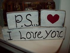 PSI love you shelf sitter sign wedding by JulieannasCreations, $7.99
