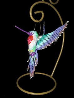 beading pattern for hummingbird   beadwork