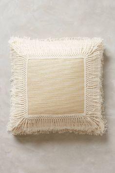 Fringed Ivory Pillow - anthropologie.com