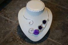 Collier de fil métallique collier violet par LesBijouxLibellule, $25.00
