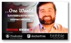 "#Fortune's ""40 under 40"", #SlavaRubin revolutionized #crowdsourcing by creating #Indiegogo.com.. raising millions monthly through millions of their website visitors. Watch his #ONEWORLD conversation with #DeepakChopra now on #NEWSWIREFM : newswire.fm/one_world/video.php?guest_id=288"