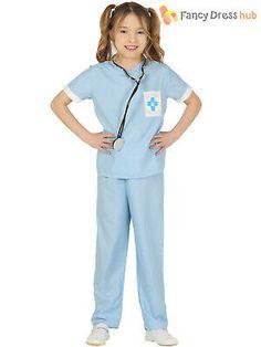 7dae4f8a7d2 Child Vet Costume Boys Girls Animal Hospital Uniform Fancy Dress Book Day  Outfit   eBay