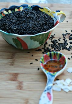 Healthy Breakfast: Black Rice Porridge -