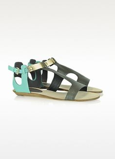 Rebecca Minkoff Bardot Color Block Leather Sandal
