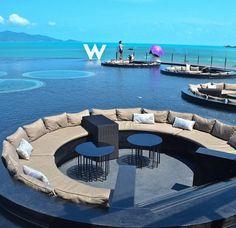 The W hotel lounge area Dubai