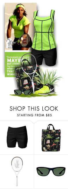 """""""JoFit Ladies Plus Size style - Nicole's Tennis Boutique"""" by nicolestennisboutique ❤ liked on Polyvore featuring Jofit, Lacoste, Ray-Ban and NIKE"""